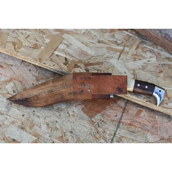 Genuine Gurkha 10 Inch 5 Chirra (5 Fuller) American Eagle Wood +Bone Handle  Handmade knife-In Nepal by GK&CO. Kukri House