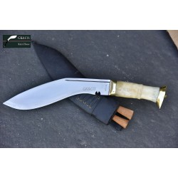 Gurkha Genuine - 10 Inch  Bhojpure Bone handle -Hand Made knife-In Nepal by GK&CO. Kukri House