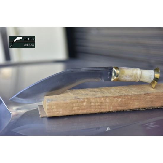 Gurkha Genuine - 10 Inch  Bhojpure Bone handle -Hand Made knife-In Nepal by GK&CO. Kukri House