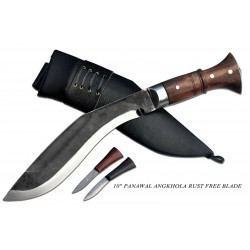 Hand Forged Kukri - 10 Inch Black (Rust Free) Panawal Angkhala Kukri Black Case -Handmade knife-In Nepal by GK&CO. Kukri House