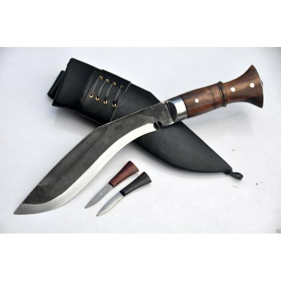 Hand Forged Kukri - 10 Inch Black (Rust Free) Panawal Angkhala Kukri Black Case -Handmade knife-In Nepal by GK&CO. Kukri House