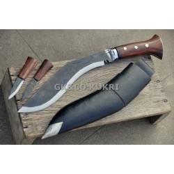 "10"" Sirupate Black (Rust Free) Panawal Handle  khukri - Hand Made knife-In Nepal by GK&CO. Kukri House"