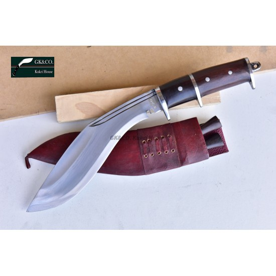 Genuine Gurkha 10 Inch Dual Guard Panawal Angkhola Rose Wooden Double Guard Handle Red Case Hand Made knife-In Nepal by GK&CO. Kukri House
