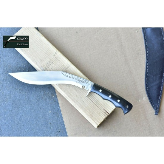 10 Inch Genuine Gurkha Kukri Knife-Blade Chainpure Village Horn Handle GK&CO