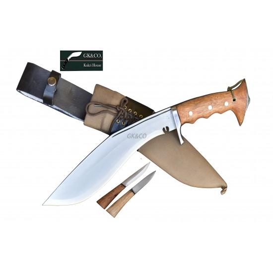 "Hand Forged Kukri - 10"" Blade Authentic British Gurkha Iraqi Operation Gripper Blocker Handle -Hand Made knife-In Nepal by GK&CO. Kukri House"