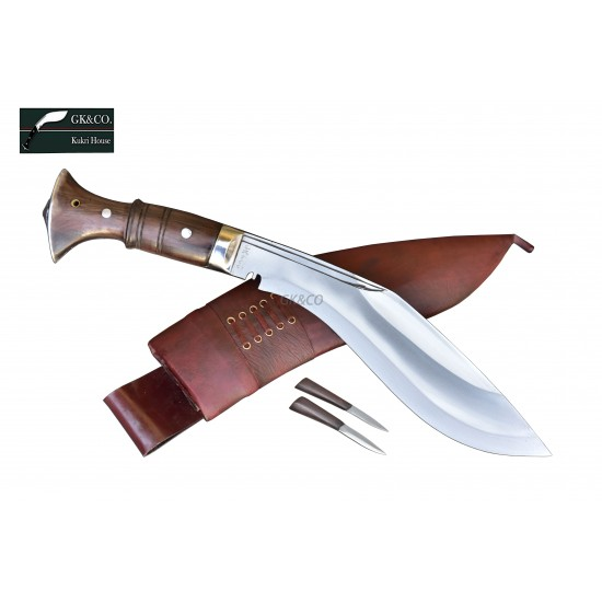 Genuine Gurkha 10 Inch Panawal Angkhola Rose Wooden Handle Red Case Hand Made knife-In Nepal by GK&CO. Kukri House