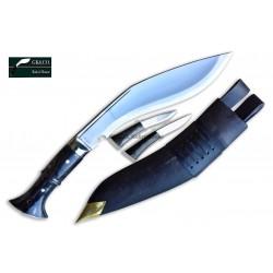 Genuine Gurkha 10. Inch Jungle Khukuri Panawal Horn Handle-Hand Made knife-In Nepal by GK&CO. Kukri House