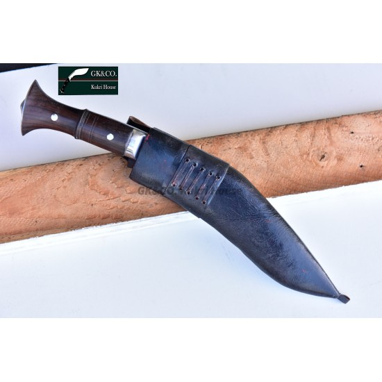 Genuine Gurkha 10. Inch Jungle Khukuri Panawal Wood Handle-Hand Made knife-In Nepal by GK&CO. Kukri House
