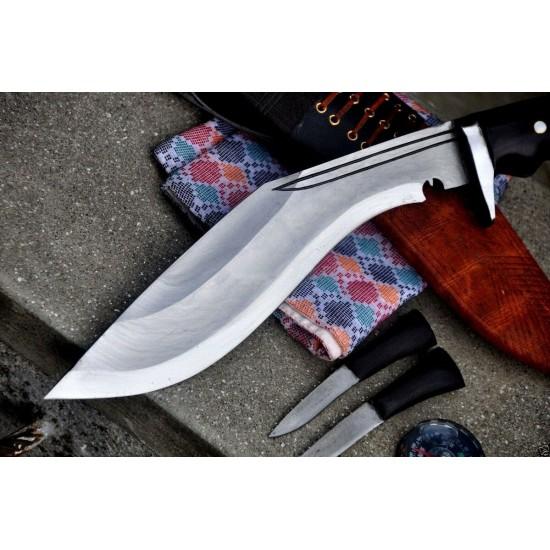Hand Forged Kukri - 10 Inch Yougall Angkhola Kukri  Yak leather Case Handmade knife-In Nepal by GK&CO. Kukri House