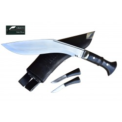 Genuine Gurkha 10.25 Inch Kukri knife-Service No.1 Khukuri Panawal Handle-Hand Made knife-In Nepal by GK&CO. Kukri House