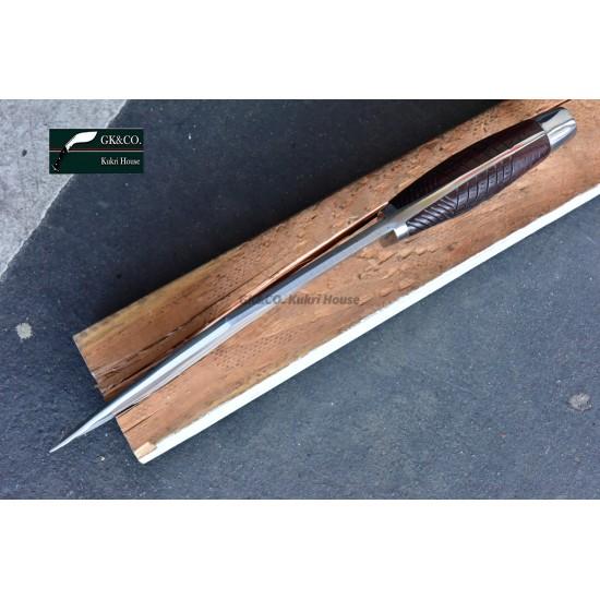 Genuine Gurkha 10.5 Inch  Blade American Eagle Rose Wooden Handle Red  Sheath Hand Made knife-In Nepal by GK&CO. Kukri House