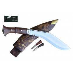 11 Inch World War II Gurkha Kukri knife Full Tang - Hand Made knife-In Nepal by GK&CO. Kukri House