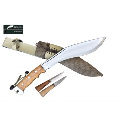 Genuine Gurkha Kukri- 11 Inch AEOF Afghan Official Issued Brown Synthetic Case Handmade by GK&CO. Kukri House
