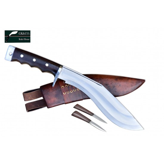 Genuine Gurkha Kukri- 11 Inch AEOF Afghan Red Sheath Official Issued  Handmade Full Tang Blocker Handle by GK&CO. Kukri House