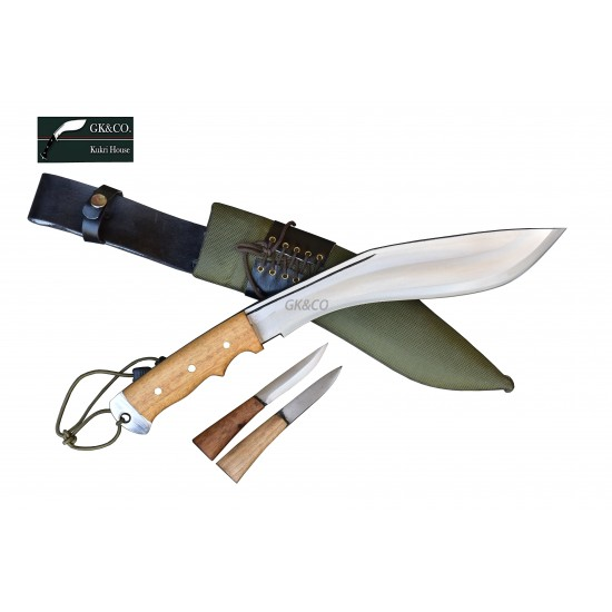 Genuine Gurkha Kukri- 11 Inch AEOF Afghan Official Issued Green Synthetic Case Handmade by GK&CO. Kukri House