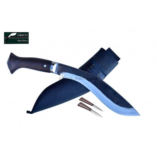 10 Inch Blade Black (Rust Free)  Sirupate Budune khukri Hand Made knife-In Nepal by GK&CO. Kukri House