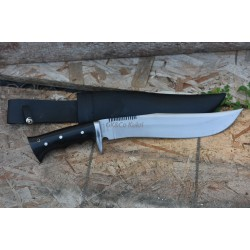 Genuine Gurkha Kukri 11 Inch GK&CO. bowie knife Black Case- Semi-polished Handmade-In Nepal by GK&CO. Kukri House