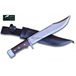 Genuine Gurkha Kukri 11 Inch GK&CO. bowie knife \- Semi-polished Handmade-In Nepal by GK&CO. Kukri House