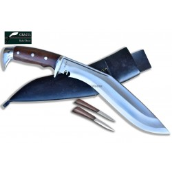 Genuine Gurkha 11.5 Inch  Blade American Eagle Rose Wooden Handle Black  Sheath Hand Made knife-In Nepal by GK&CO. Kukri House