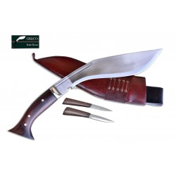 "12 Inch WWI Historical ""Hanshee""  Kukri Hand Made knife Red Sheath -In Nepal by GK&CO. Kukri House"