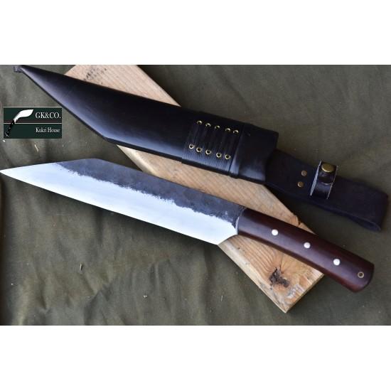 12 Inch Blade Hand forged Gurkha-Seax knife cleaver framer Handmade knife-In Nepal by GK&CO. Kukri House