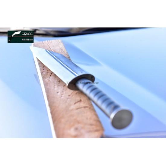 12 Inch Blade Hand Forged Gurkha-Trakker Cleaver Framer Handmade knife-In Nepal by GK&CO. Kukri House