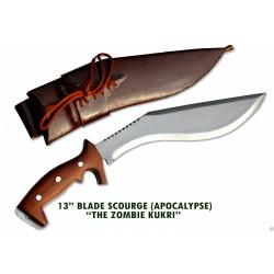 Gurkha Genuine 13 Inch Blade Scourge Apocalypse Zombie Handmade-in Nepal by GK&CO. Kukri House