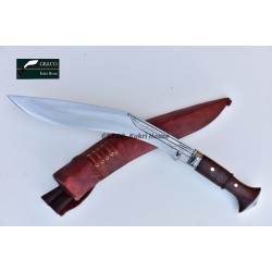 Genuine tradition -13 Inch Cheetlange Wooden Handle Khukri Red sheath -Handmade knife-In Nepal by GK&CO. Kukri House