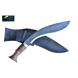 "Authentic Gurkha Kukri-14"" (Rust Free) Survival Blade Kukri Working knife-In Nepal by GK&CO. Kukri House"