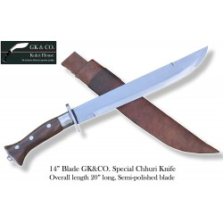 Genuine Gurkha 14 Inch  Blade GK&CO. Special Chhuri Hand Made knife-In Nepal by GK&CO. Kukri House