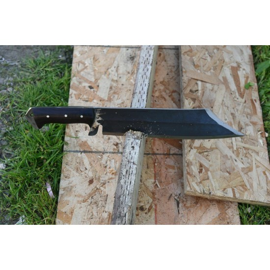 Genuine Gurkha Kukri Knife - 15 Inch Black (Rust free) Mukti (meaning redemption) Kukri knife - Handmade by GK&CO. Kukri House in Nepal.