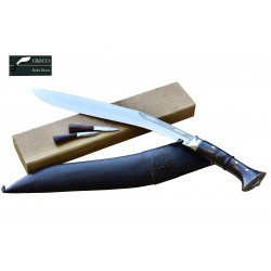 Genuine Gurkha Kukri Knife - 15. Inch Blade Sirpate Panawal Handle Kukri - Handmade by GK&CO. Kukri House in Nepal.