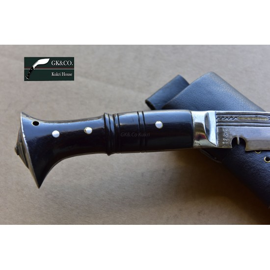 Genuine Gurkha Kukri Knife - 15. Inch Blade Sirpate Panawal Handle Kukri - Handmade by GK&CO. Kukri House in Nepal.