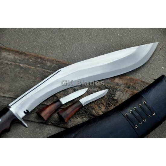 Gurkha Genuine 16 Inch Blade American Eagle Kukri Black Case- Semi-polished Handmade-In Nepal by GK&CO. Kukri House