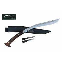 GK&CO Special-18 Inch Blade 2 Chirra Full Tang  Long Handle Handmade knife-In Nepal by GK&CO. Kukri House