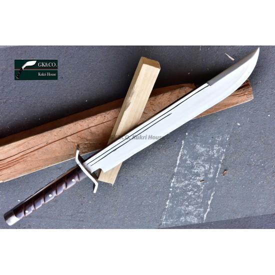 Genuine Gurkha 18 Inchs GK&CO. Machete Sword Fixed Blade (GK&CO MSFB) Handmade knife-In Nepal by GK&CO. Kukri House