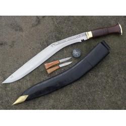 "Genuine Gurkha Kukri Knife - 20"" Blade  Special  Sirpate Kukri Semi-polished Knife - Handmade by GK&CO. Kukri House in Nepal."