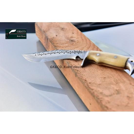 Gurkhas Kukri- 5 Inch Blade American Eagle Dragon Bone Handle Kukri ( Kitchen knife) Handmade by GK&CO. Kukri House in Nepal.
