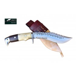 Gurkhas Kukri- 5 Inch Blade American Eagle Dragon Bone+ Wooden Handle Kukri ( Kitchen knife) Handmade by GK&CO. Kukri House in Nepal.