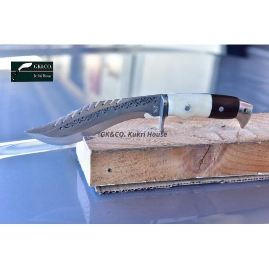 Gurkhas Kukri- 5 Inch Blade American Eagle Dragon Bone+ Wooden Handle Kukri ( Kitchen knife) Handmade by GK&CO. Kukri House in Nepal.