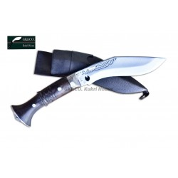 "5"" Blade Cheetlange Special Kukri-Full Tang Rosewood Handle Black Leather Sheath"