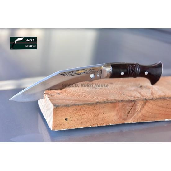 "5"" Blade Cheetlange Special Kukri-Full Tang Rosewood Handle Black Leather Sheath"