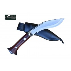 "5"" Blade Cheetlange Special Kukri-Rat Tail Tang Rosewood Handle Black Leather Sheath"