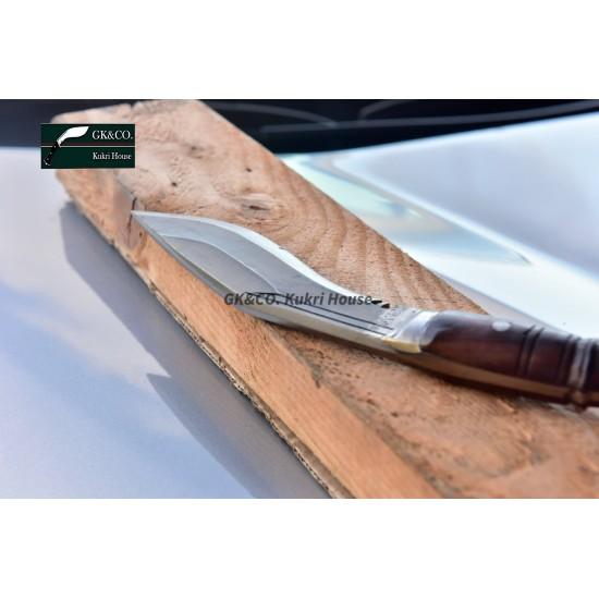 GenuineGurkha Kukri-6 Inch Black (Rust Free) Blade Panawal Angkhola Khukuri- Handmade(Kitchen knife) GK&CO.Kukri House