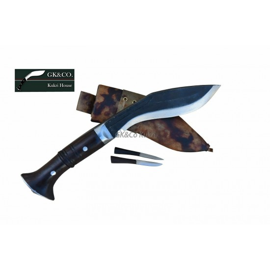 Genuine Gurkha Kukri-6 Inch Black (Rust Free) Panawal Angkhola Khukuri- Handmade(Kitchen knife) GK&CO.Kukri House
