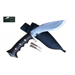 6 Inch blade Iraqi Panawal Angkhola Black Case Gripper Handle working kukri Handmade (Kitchen knife) GK&CO.Kukri House