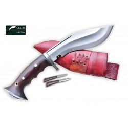 6 Inch blade Iraqi Panawal Angkhola Red Case Gripper Handle working kukri Handmade (Kitchen knife) GK&CO.Kukri House