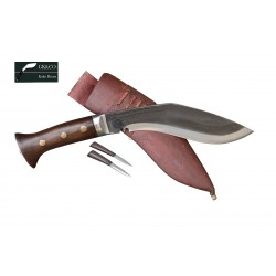 Genuine Gurkha Kukri 8 Inch Black (Rust Free) Blade Red Case Hand Made knife-In Nepal by GK&CO. Kukri House