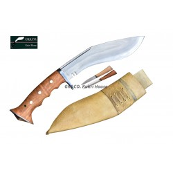 Hand Forged Kukri - 8 Inch Authentic British Gurkha Iraqi Operation White Case -Hand Made knife-In Nepal by GK&CO. Kukri House