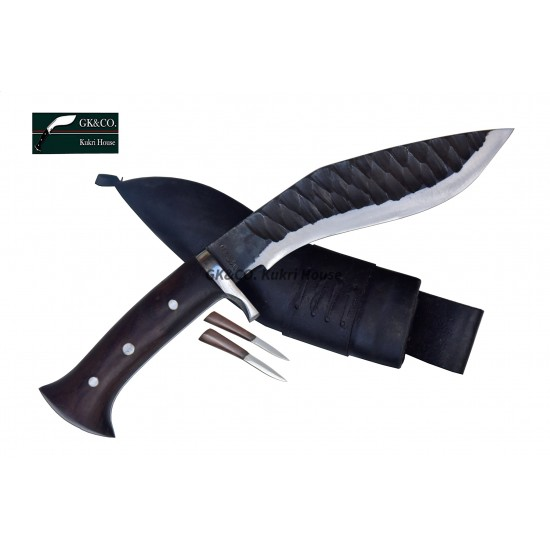 Genuine Gurkha Kukri 8 Inch Katle (Rust Free) Blade Black Case Hand Made knife-In Nepal by GK&CO. Kukri House